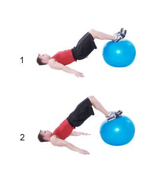 Swiss-Ball Leg Curl - Fitness-Oefeningen.com